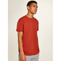 Mens Orange Rust Oversized Roller T-Shirt, Orange