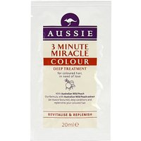Aussie 3 Minute Miracle Colour Treatment Sachet 20ml
