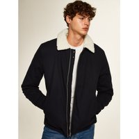 Mens Navy Borg Lined Coach Jacket, Navy
