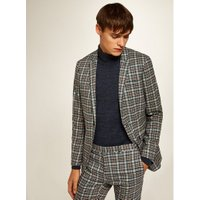 Mens Multicoloured Texas Check Ultra Skinny Blazer, Multi
