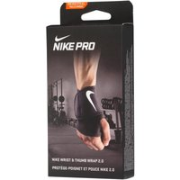 Nike Mens Pro Wrist And Thumb Wrap 2.0 Compression Support Black/White
