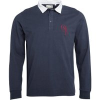 Onfire Mens Long Sleeve Rugby Shirt Navy