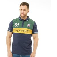 Onfire Mens Polo Navy/Green