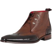 Jeffery-West  Men's Lace Up Scarface Boots, Brown  men's Smart / Formal Shoes in Brown
