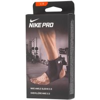 Nike Mens Pro Ankle Sleeve 2.0 Compression Support Black/White