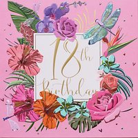 Belly Button Designs Floral 18th Birthday Card