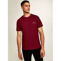 Mens Nicce Red Chest Logo T-Shirt, Red
