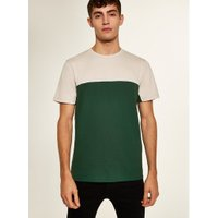 Mens Green And Stone 'Handle' T-Shirt, Green