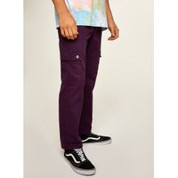 Mens Red Wine Straight Cargo Trousers, Red