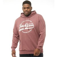 JACK AND JONES Originals Mens Plus Size Raffs Big Sweat Hoody Port Royale