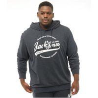 JACK AND JONES Originals Mens Plus Size Raffs Big Sweat Hoody Total Eclipse