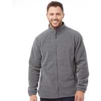 Onfire Mens Zip Through Polar Jacket Charcoal Marl