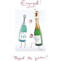 Woodmansterne Engagement Popped The Question Card