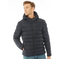 French Connection Mens Row 2 Hooded Jacket Marine