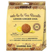 Rhythm 108 Ooh-la-la Tea Biscuits Lemon Ginger Chia 135g (Sharing Bag)