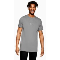 Mens Grey Marl T-Shirt, Grey