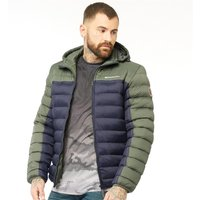 Crosshatch Mens Pyffan Padded Jacket With Detachable Hood Black/Thyme
