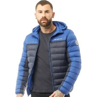 Crosshatch Mens Pyffan Padded Jacket With Detachable Hood Night Sky/Sodalite Blue