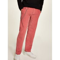 Mens Pink Wide Leg Corduroy Trousers, Pink