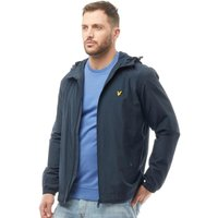 Lyle And Scott Vintage Mens Zip Through Hooded Branded Jacket Navy Jacket