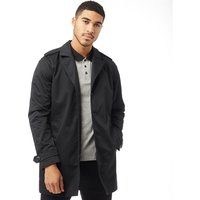 JACK AND JONES Mens Premium David Trenchcoat Black