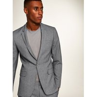 Mens Grey Houndstooth Ultra Skinny Fit Blazer, Grey