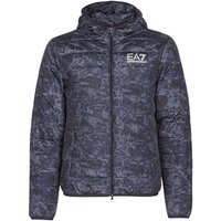 Emporio Armani EA7  TRAIN GRAPHIC SERIES M JACKET HOODIE ALL OVER CAMOU  men's Jacket in Grey