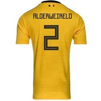 adidas  2018-2019 Belgium Away Football Shirt (Alderweireld 2)  men's T shirt in Yellow
