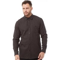 Kangaroo Poo Mens Yarn Dyed Checked Long Sleeve Shirt Grey/Black
