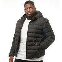 French Connection Mens Plus Size Row 2 Hooded Jacket Black