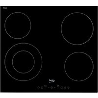Beko HIC64402T Electric Ceramic Hob, Black