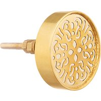 John Lewis & Partners Perforated Metal Cupboard Knob, Gold