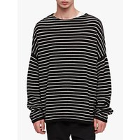 AllSaints Marty Crew Jumper, Black/Ecru White