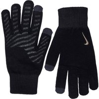 Nike Mens Knitted Tech And Grip Gloves Black/Anthracite/Metallic Gold