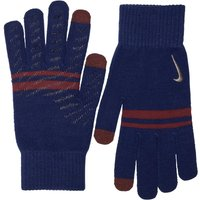 Nike Mens Stripe Knitted Tech And Grip Gloves Gym Blue/Red Crush/Red Crush/Metallic Gold