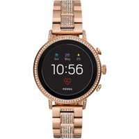 FOSSIL Q Venture - Rose Gold & Grey, Silicone Strap, Stainless Steel