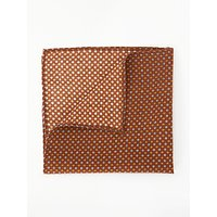John Lewis & Partners Ditsy Pocket Square, Rust