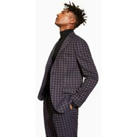 Mens Purple Houndstooth Blazer, Purple