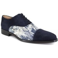 J.bradford  Richelieu  Navy Blue Leather JB-RILEY  men's Casual Shoes in multicolour