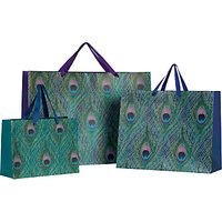 John Lewis & Partners Peacock Feather Gift Bag