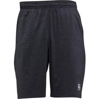 Canterbury Mens VapoDri Lightweight Stretch Poly Shorts Vanta Black Marl