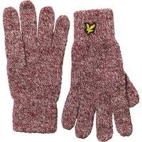 Lyle And Scott Vintage Mens Mouline Gloves Claret Jug