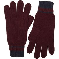 French Connection Mens Plain Knit Gloves Marine/Bordeaux