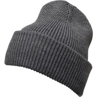 French Connection Mens Plain Knit Beanie Charcoal