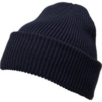 French Connection Mens Plain Knit Beanie Marine