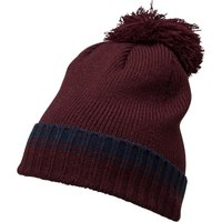 French Connection Mens Plain Knit Beanie Marine/Bordeaux