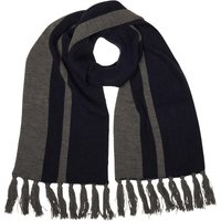 French Connection Mens Plain Knit Scarf Charcoal Melange/Marine Blue