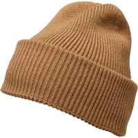 French Connection Mens Plain Knit Beanie Camel