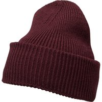 French Connection Mens Plain Knit Beanie Bordeaux
