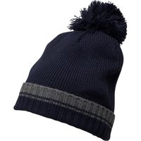 French Connection Mens Plain Knit Beanie Charcoal Melange/Marine Blue